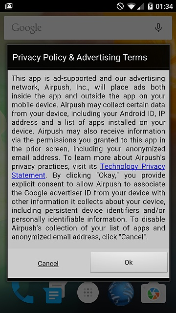 Full Screen Airpush Ads on OPT? - Android Forums at AndroidCentral com