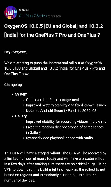 OnePlus 7/7 Pro. 10.0.5/10.3.2 system update.-screenshot_20200331-100243.jpeg