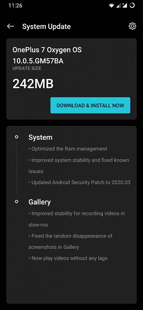 OnePlus 7/7 Pro. 10.0.5/10.3.2 system update.-screenshot_20200401-112621.jpeg