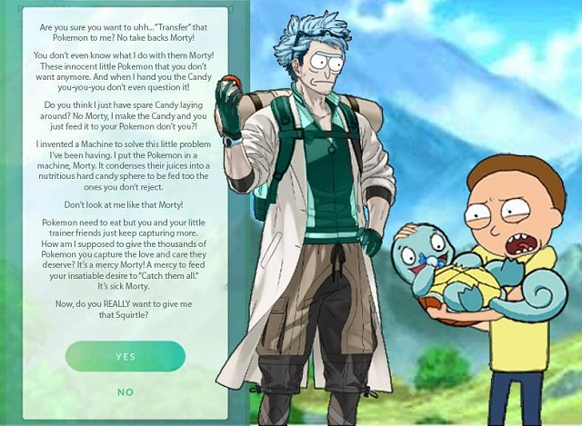 What is the purpose of giving a Pokémon to the professor?-pm.jpg
