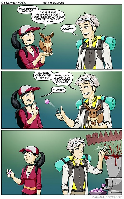 What is the purpose of giving a Pokémon to the professor?-cad.jpg
