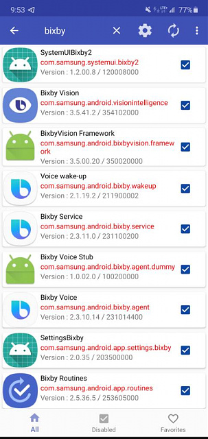 Bixby voice, routine, Vision-screenshot_20200629-215353_package-20disabler-20pro.jpeg