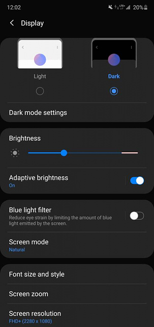 Screen dimming on A70 after Android 10 update.-screenshot_20200716-000252_settings.jpeg