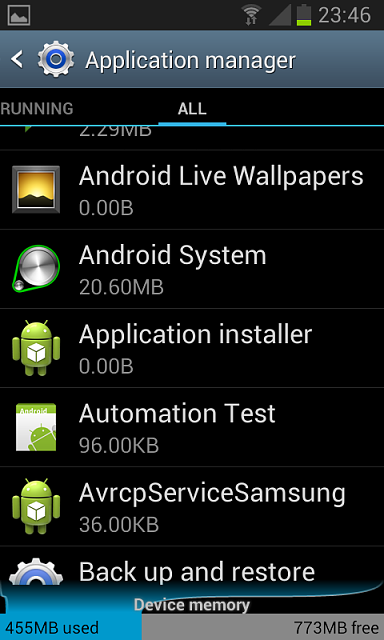 application pour android 4.1.2
