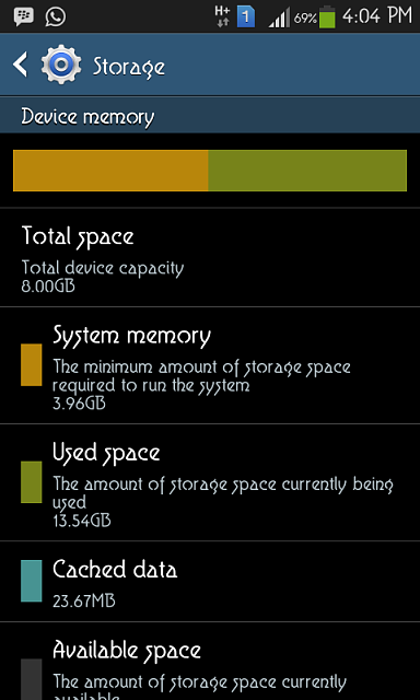 """My Galaxy Grand is Device memory shows  """"USED SPACE: 12.29 GB"""" when the total device capacity is 8GB-screenshot_2013-10-30-16-04-38.png"""