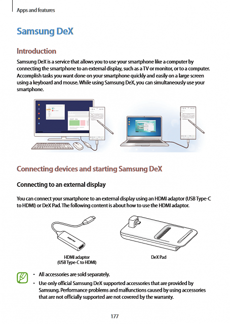How can you use Samsung dex wireless without using a usb cable?-dex.png
