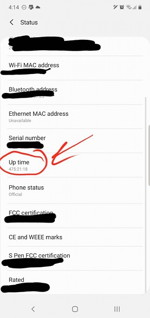 Phone Uptime 475 Minutes (20 days). What is yours?-screenshot_20190913-161535_settings.jpeg