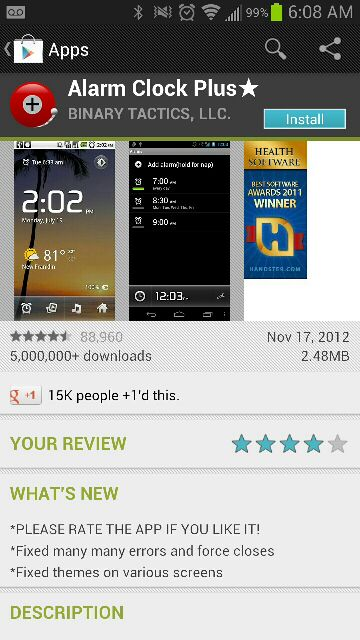 Galaxy Note 2: First thing I don't like.. The alarm clock-uploadfromtaptalk1355918965142.jpg