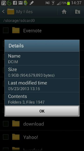 how to find dcim folder on android