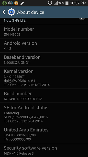 Root Note 3 SM-N9005 without messing with KNOX ? - Android Forums at