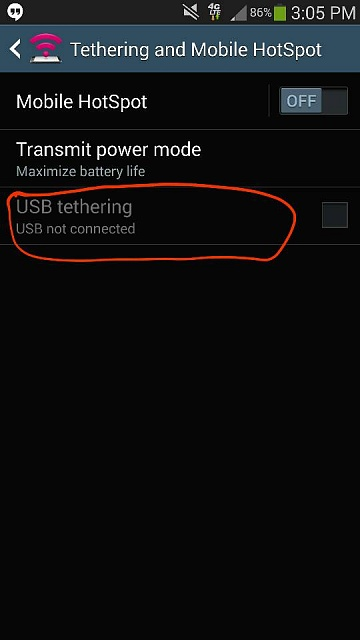 Note 3: Missing USB tethering? Only got bluetooth option..-1394222783471.jpg