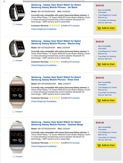 Galaxy Gear: Bestbuy.com selling for -screenshot-google-chrome.png