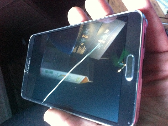 Samsung Galaxy Cracked Screen Defect Not Dropped Note