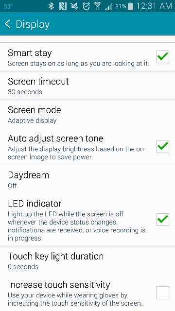 how to turn off button lights on galaxy s7