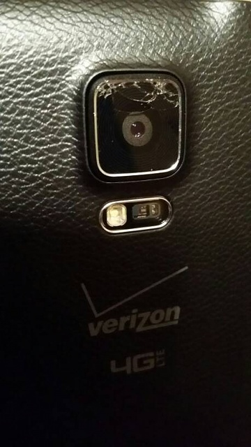 Samsung Galaxy Note 4 Shattered Rear Lens Cover Android Forums