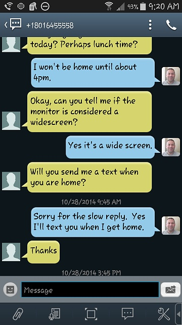 how to change text message color on android
