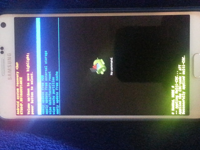 how to put galaxy note 4 in recovery mode