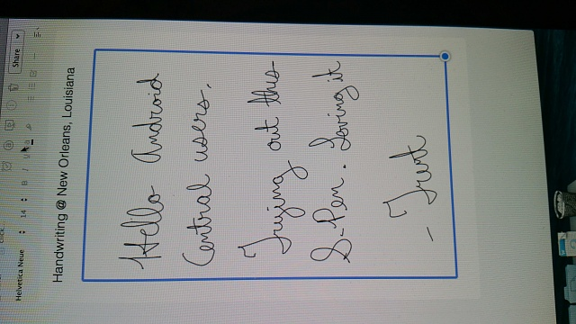 Note 4 handwriting to text