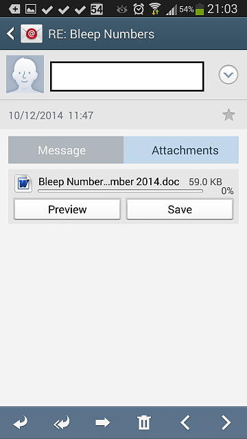 how to open mail attchments android