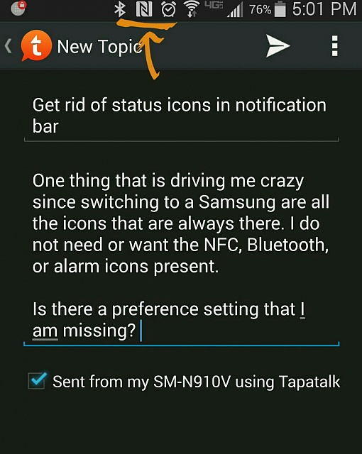 Can I get rid of status icons in the notification bar? - Android ...