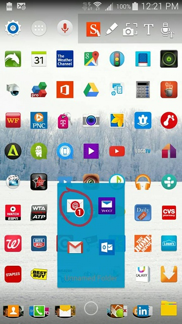 Nova Launcher Prime: how can I fix the stock email counter?-1424367366302.jpg