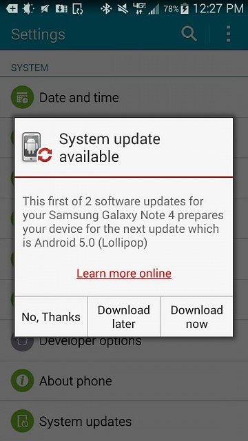 Verizon note 4 lollipop, I got it-1428078571148.jpg