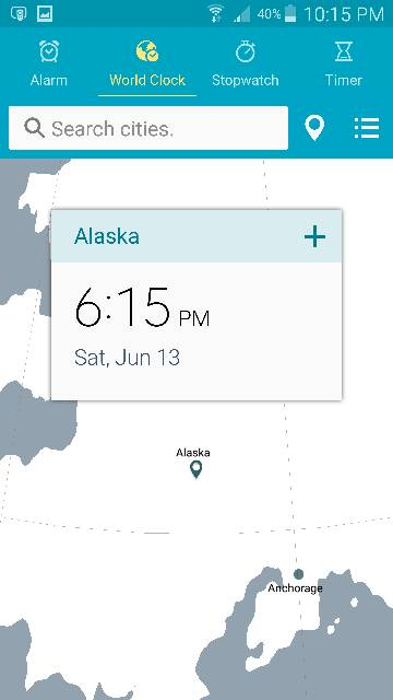 Native Clock app world click location wrong - Android Forums