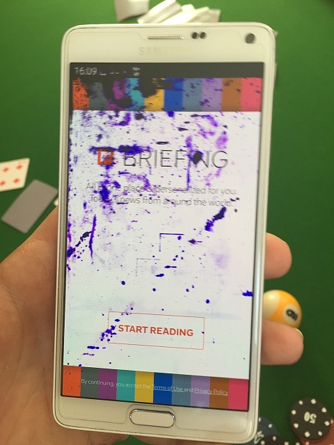 How can I get rid of some purple spots on the screen of my Note 4?-0l5afib.jpg