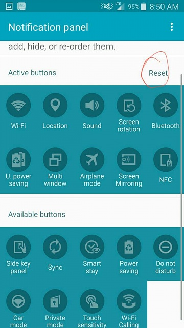 can not see any action buttons on note 4 in notification tab-1461934889326.jpg