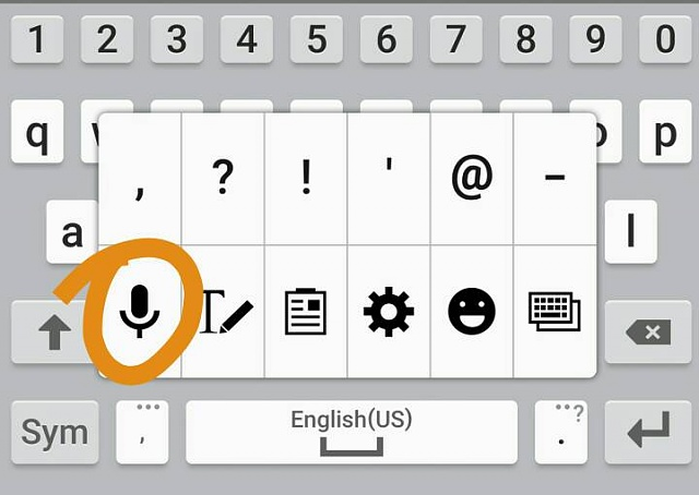 How to recover the mic icon for Text to Speech on Galaxy