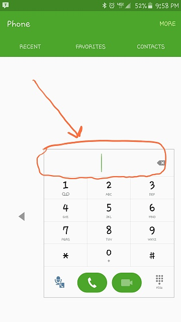 How can I paste a telephone number in the dialing screen?-uploadfromtaptalk1441940389950.jpg
