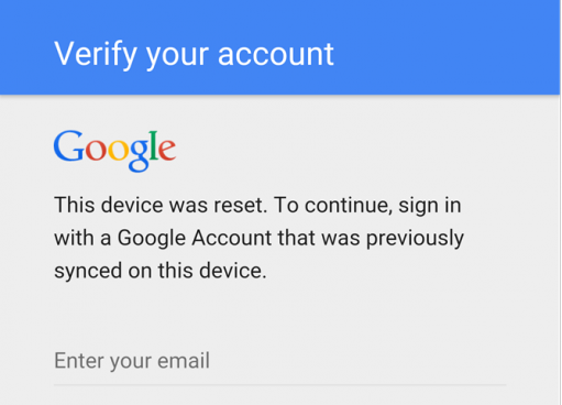 Why can I not get past the setup using my original email after a hard reset? :(-get.png