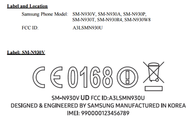 Samsung Galaxy Note 7 receives FCC certification!-fcc7.png