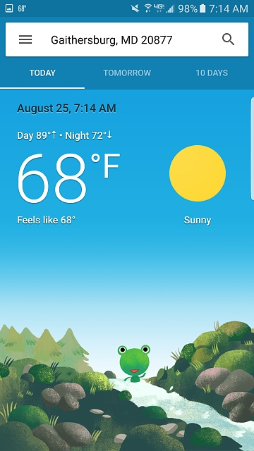 ya gotta love googles weather frog and is there a way to put on lock screen-screenshot_20160825-071450.jpg