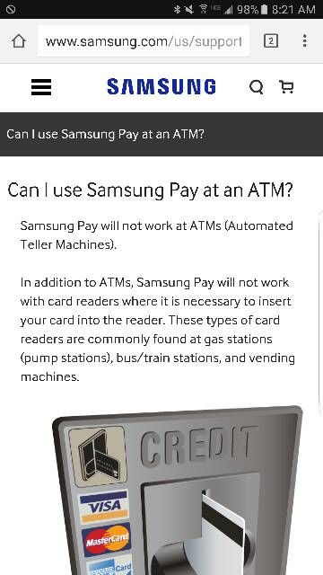 Gas pump corrupted my Samsung Pay - Android Forums at AndroidCentral com