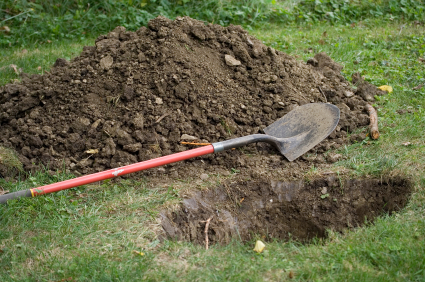 What samsung will do with those n7's? Will mother nature consume that garbage?-shovelhole.jpg