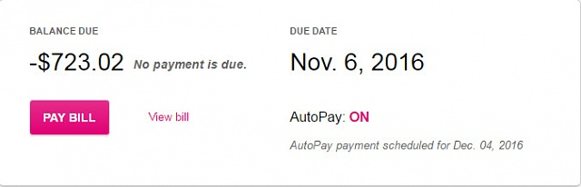 T mobile my pay bill