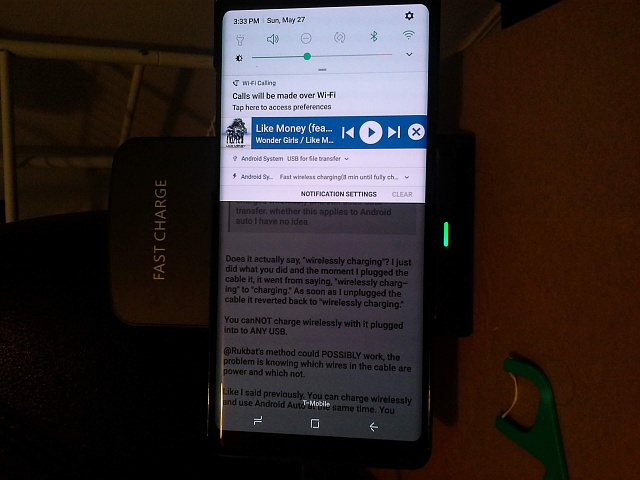 Wireless charging with Android Auto on USB? - Android Forums at