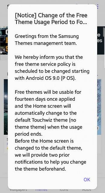 Free themes are going away? - Android Forums at AndroidCentral com