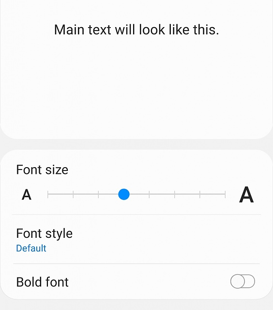 What is the default font size on a Samsung Galaxy Note 9?-20190922_195419.jpg