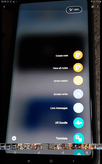 How can i change the display on my note 9 shortcut incons from a column to a circular setup-2818.jpg