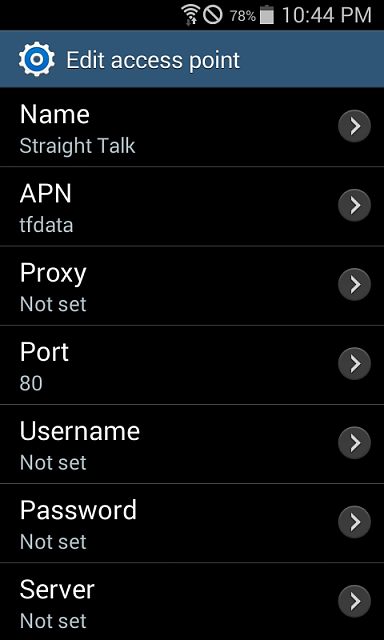 Straight Talk APN Settings for Internet and MMS for  At&T Samsung Galaxy SII Skyrocket-screenshot_2015-07-19-22-44-17.png