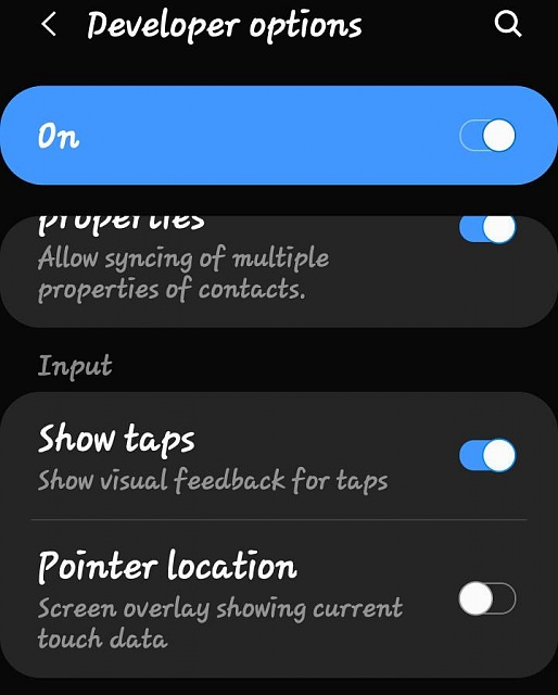 How do i disable the white dot that follows me around on screen on Samsung s10-552.jpg