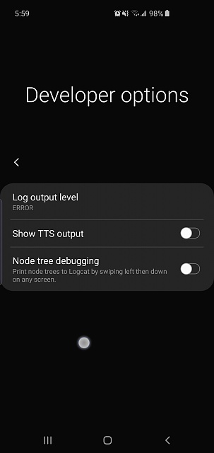 How do i disable the white dot that follows me around on screen on Samsung s10-screenshot_20190418-055901_accessibility.jpg