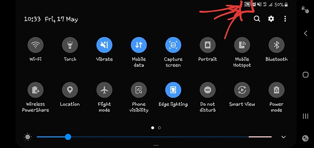 This thingy up in the notification near the camera side when you scroll the notification thing down-20190517_224147.jpg