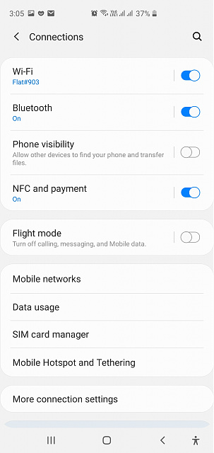 VPN connects fine on 4G but will not connect on Wifi on my Galaxy S10+ phone-screenshot_20200218-150501_settings.jpg
