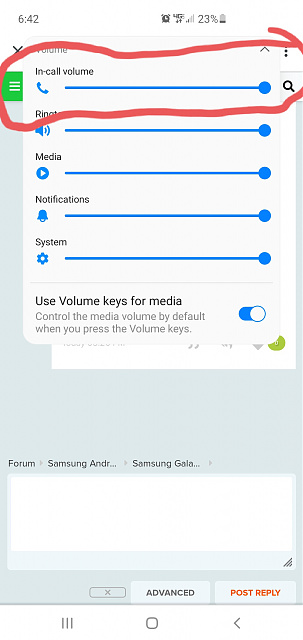 How to turn off in-call volume on S10+?-20200707_184259.jpg