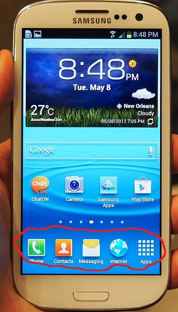 can't change bottom row of home screen apps galaxy s3-samsung-s3-problem.jpg