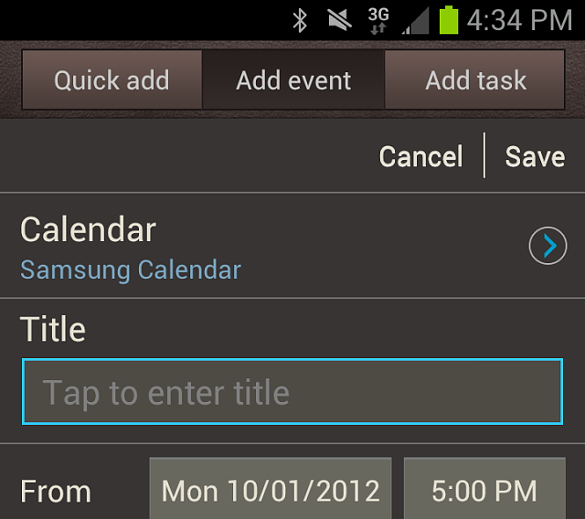 default calendar when adding appointment