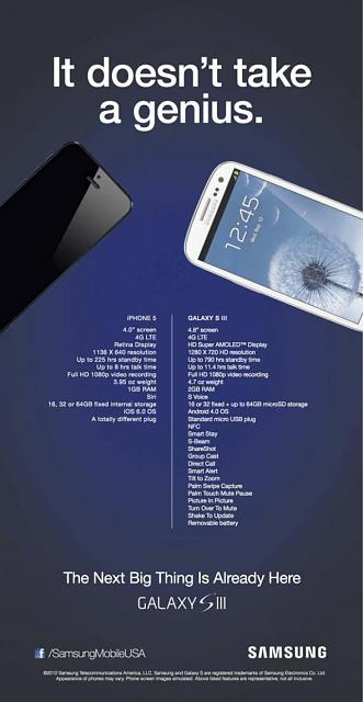Please tell me why the S3 is better than an iPhone.-samsung-iphone5-ad.jpg